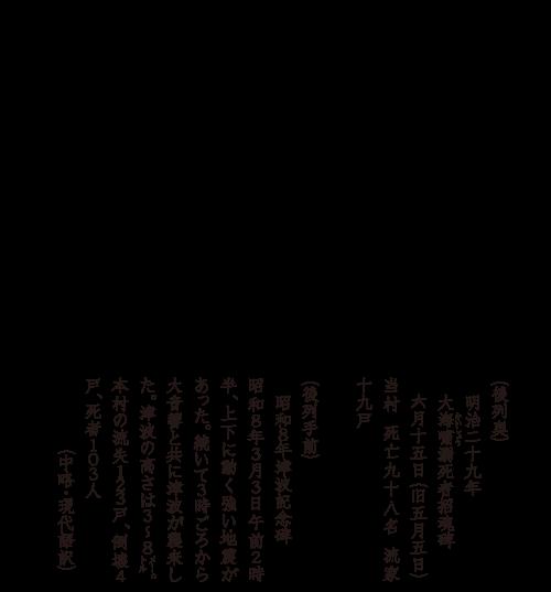 碑の記憶 | 海の玄関口 惨状刻む (田野畑村羅賀・平井賀地区)